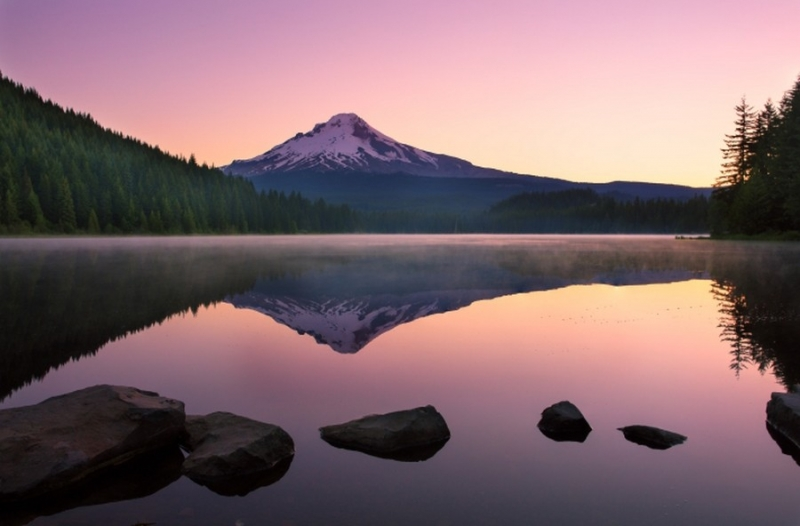 Colorful Sunrise of Mt. Hood